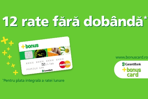 Sistem rate BonusCard de la Garanti Bank